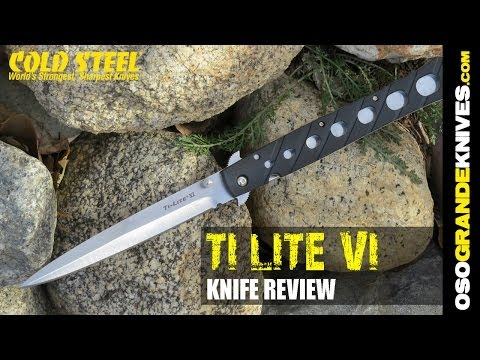 Cold Steel Ti Lite XL Mega Stiletto Folding Knife Review | OsoGrandeKnives