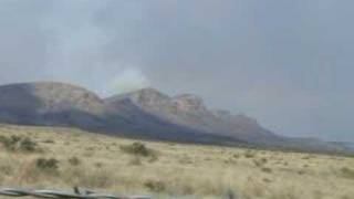 Glass Mountains Fire - Big Bend
