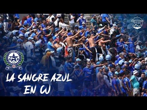 """""""La Sangre Azul en CU"""" Barra: La Sangre Azul • Club: Cruz Azul"""
