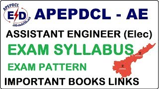 APEPDCL Assistant Engineer Exam syllabus and Exam pattern