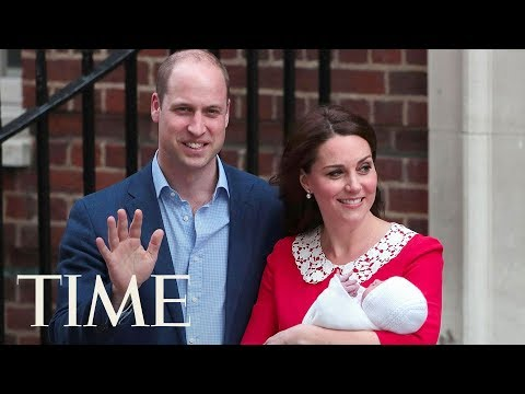 Kate Middleton & Prince William Welcome Royal Baby #3: Watch Them Leave St. Mary's Hospital | TIME
