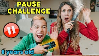PAUSE CHALLENGE With 8 YEAR OLD KID For 24 HOURS! **Gone Too Far** | The Royalty Family