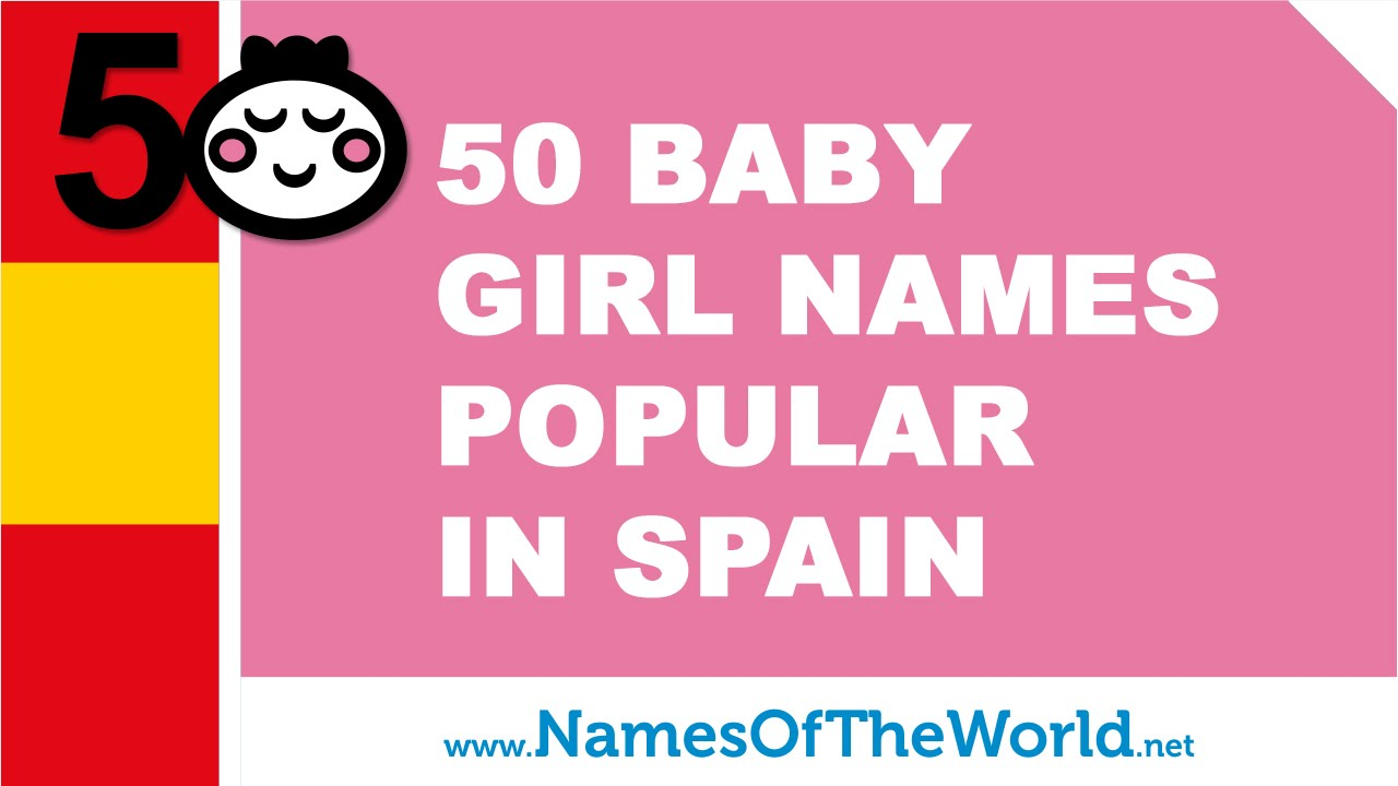 50 baby names for girls popular in Spain - www.namesoftheworld.net