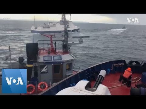 Collision between Russian vessel and Ukrainian tug