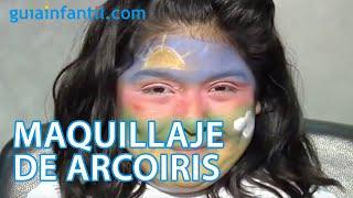 Maquillaje de fantasía de Arcoiris