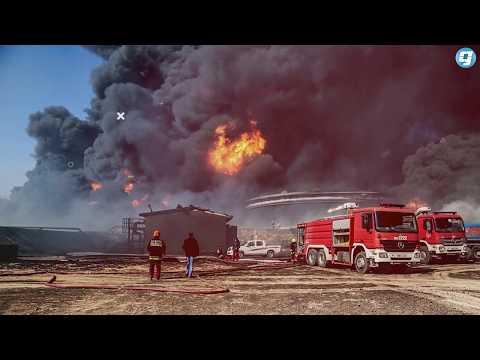 فيديو بوابة الوسط | الهجوم على الهلال النفطي واشتعال النيران بخزانات النفط يكلف ليبيا مليارات الدولارات