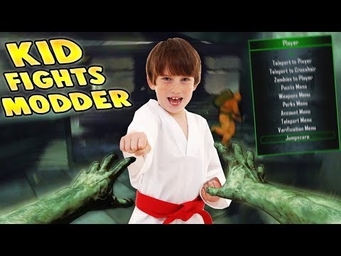 KID FIGHTS BACK AGAINST MODDER!! (Zombie Mod Trolling!)
