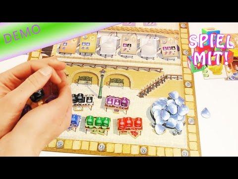 Queen Games Parfum - Nina und Kathi machen Duftkreationen beim Brettspiel für Kinder ab 8 Jahren