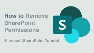 Microsoft SharePoint - How to Remove Permissions in a Hurry