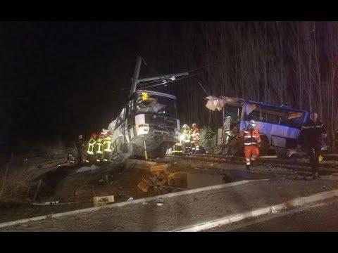 Accident Millas 66 collision entre un bus scolaire et un train Pyrénées Orientales