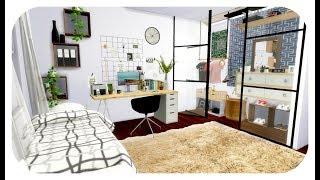 The Sims 4| Speed Build | My Dorm Room + CC Links