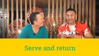 Serve return and resolve | #TakiKōrero