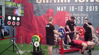 A. Kabantseff Bench Press Raw 170 kg (masters 40-49)