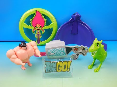 2016 Teen Titans Go Set Of 6 Sonic Drive In Kids Meal Toys Video