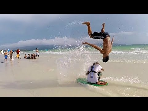 Epic Skimboarding Tricks and Jumps   People Are Awesome