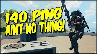 140 PING AINT NO THING!! TAKING ON THE AMERICAN SERVERS ON COD BLACKOUT SOLOS!