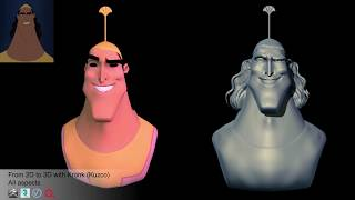 From 2D to 3D with Kronk (Kuzco)
