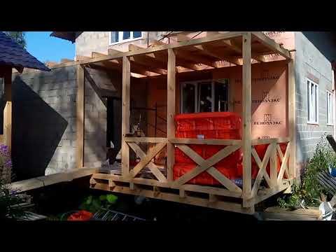 Балкон 36 кв.пристройка к дому