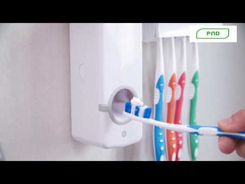 Zahnpastaspender mit Bürstenhalter