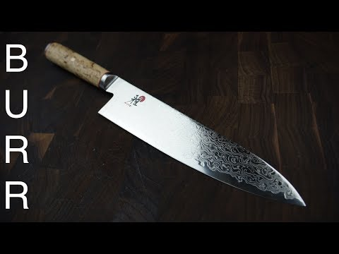 Miyabi Birchwood SG2 Gyuto Chef Knife Unbox + Cut Demo + Review
