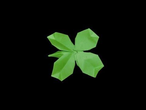 Origami Shamrock (deluxe): Schweres Kleeblatt - Tutorial [HD]