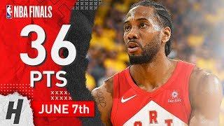 Kawhi Leonard Full Game 4 Highlights Raptors Vs Warriors 2019 NBA Finals - 36 Pts, 12 Reb, BEAST!