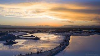 Video : China : Sky Mirror Tea Card salt lake 天空之镜 茶卡盐湖, QingHai