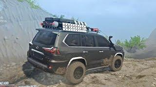 Lexus LX570 4x4 Offroad | Ruta Difícil, Cruzando Ríos, Mucho Lodo Y Piedras Grandes