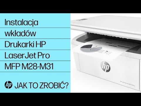 Jak zainstalować wkłady w drukarkach HP LaserJet Pro MFP M28-M31