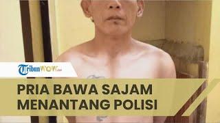 Pria di Garut Tenteng Golok Cari Polisi Akhirnya Melukai Tangan Anggota TNI, Begini Kejadiannya