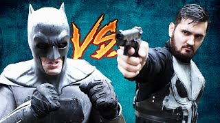 Batman VS Punisher! (DC vs Marvel) Stop Motion Fight Scene
