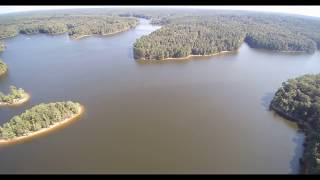 Falls Lake Drone Flyover (4k), Raleigh NC