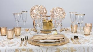 Bling Wedding | Glamorous Wedding | Gold Wedding Inspiration