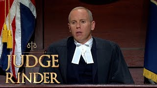 The Plaintiff Leaves Out One Crucial Detail   Judge Rinder