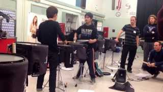 Blue Devils 2014 Drumline Auditions - Kaito/Brandon playing Flams.