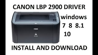 driver canon lbp 2900 download windows 7