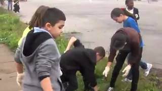 Stockyard Community School students clean up neighborhood