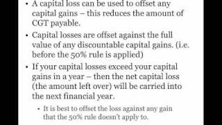 Shares - Captial Loss And CGT