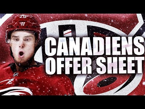 HABS OFFER SHEET SEBASTIAN AHO - MONTREAL CANADIENS OFFER SHEET AHO / Carolina Hurricanes NHL News
