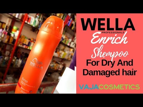 Wella Professionals Enrich Moisturising Shampoo For Dry And Damaged Hair Review | Unboxing