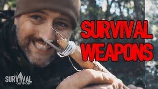 Three Prong Survival Spear With Readyman Wilderness Survival Card