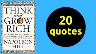 20 Quotes | Think and Grow Rich | Napoleon Hill