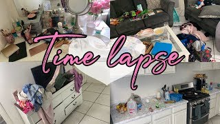 Time Lapse Clean With Me|| No Talking || Speed Cleaning || Messy House