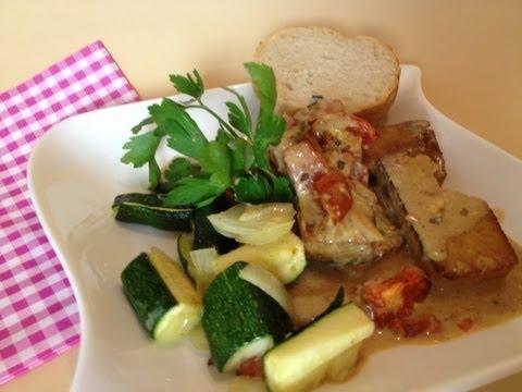Tofu Auflauf Rezept mit Tomaten und Vermouth od. Wermut Kräuterlikör  - einfachKochen