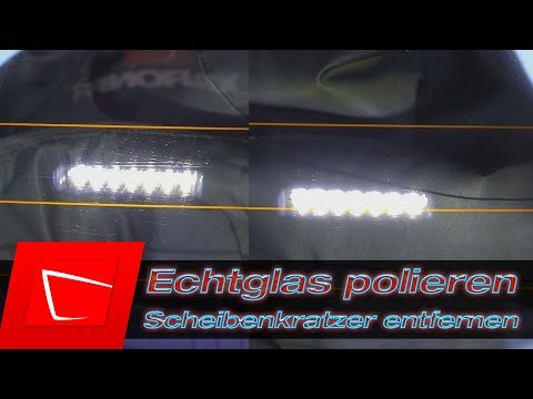 Glas polieren -Kratzer in Echtglasscheibe entfernen - Scheibenwischer Kratzer entfernen