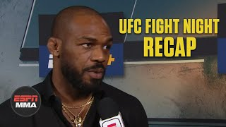 UFC light heavyweight champion Jon Jones speaks to Laura Sanko about Jan Blachowicz knocking out Corey Anderson in the main event of the UFC Fight Night in New Mexico, then evaluates him as the next potential challenger for his title.  Watch the full UFC Fight Night Post Show on ESPN+ https://www.espn.com/watch/player?id=229a3c9d-f16b-4d42-9c06-5e64ae207282  #UFC #ESPNMMA ✔ For more UFC, sign up for ESPN+ https://plus.espn.com/ufc ✔ Get the ESPN App: http://www.espn.com/espn/apps/espn ✔ Subscribe to ESPN on YouTube: http://es.pn/SUBSCRIBEtoYOUTUBE ✔ Subscribe to ESPN FC on YouTube: http://bit.ly/SUBSCRIBEtoESPNFC ✔ Subscribe to NBA on ESPN on YouTube: http://bit.ly/SUBSCRIBEtoNBAonESPN ✔ Watch ESPN on YouTube TV: http://es.pn/YouTubeTV  ESPN on Social Media: ► Follow on Twitter: http://www.twitter.com/espn ► Like on Facebook: http://www.facebook.com/espn ► Follow on Instagram: http://www.instagram.com/espn  Visit ESPN on YouTube to get up-to-the-minute sports news coverage, scores, highlights and commentary for NFL, NHL, MLB, NBA, College Football, NCAA Basketball, soccer and more.   More on ESPN.com: http://www.espn.com