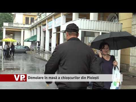Demolare în masă a chioșcurilor din Ploiești