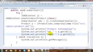 Marshalling and UnMarshalling Object and List Object with Java XML