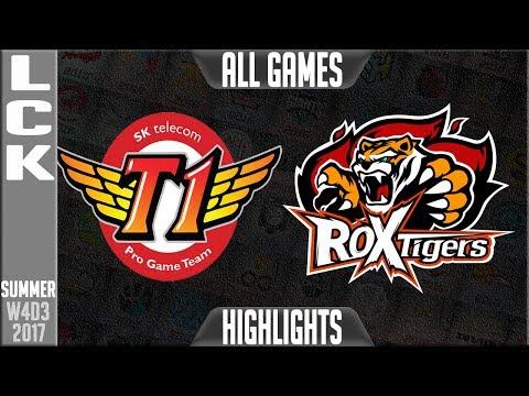 SKT T1 vs ROX Tigers Highlights Full Series | LCK W4D3 Summer 2017 | SKT vs ROX