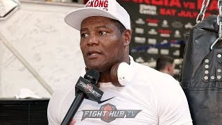 """LUIS ORTIZ """"JOSHUA IS THE ONE WHO IS RUNNING FROM FIGHTERS! AT LEAST WILDER STEPPED UP!"""""""